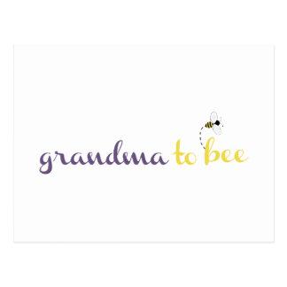 Abuela a la abeja tarjetas postales