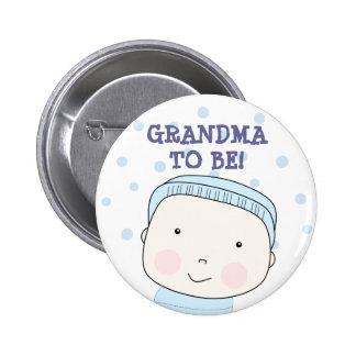 ¡Abuela a ser!  Botón del bebé Pin Redondo De 2 Pulgadas
