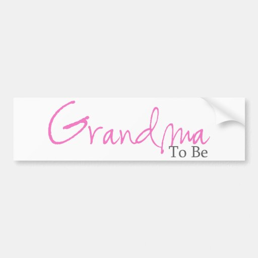 Abuela a ser (escritura rosada) etiqueta de parachoque