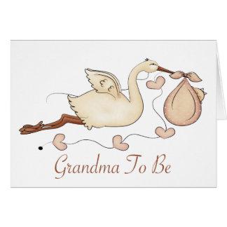 Abuela a ser tarjeta de felicitación
