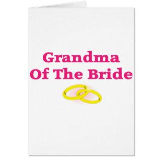 Abuela/abuela de la novia tarjetón
