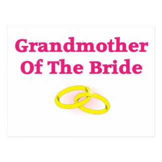 Abuela/abuela de la novia tarjeta postal