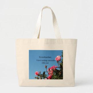 Abuela, amo el hacer de memorias con usted bolsa tela grande