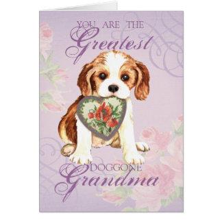 Abuela arrogante del corazón tarjeta de felicitación