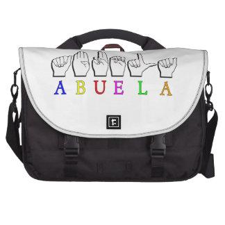 ABUELA ASL FINGERSPELLED GRANDMOTHER BAG FOR LAPTOP