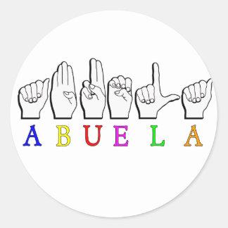 ABUELA ASL FINGERSPELLED GRANDMOTHER STICKERS