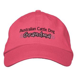 Abuela australiana del perro del ganado gorras de béisbol bordadas