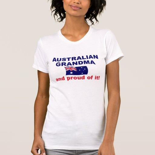 Abuela australiana orgullosa t shirt