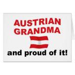 Abuela austríaca orgullosa felicitacion
