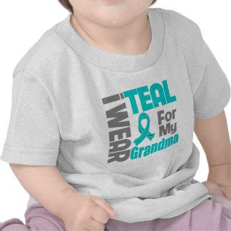 Abuela - ayuda del cáncer ovárico de la cinta del camisetas