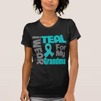 Abuela - ayuda del cáncer ovárico de la cinta del playera