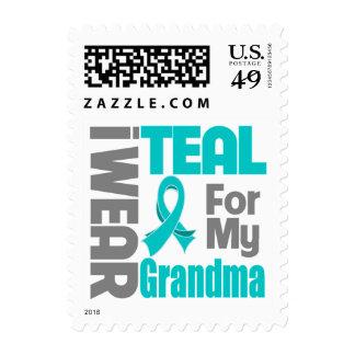 Abuela - ayuda del cáncer ovárico de la cinta del sello