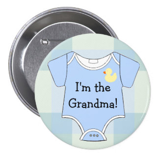 Abuela azul de la ducha del Tela-Bebé Pins
