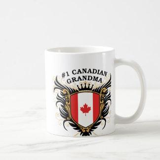 Abuela canadiense del número uno taza clásica