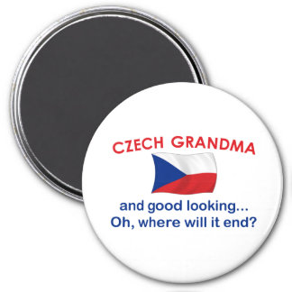Abuela checa apuesta imán redondo 7 cm