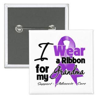 Abuela - cinta del cáncer pancreático pin cuadrado