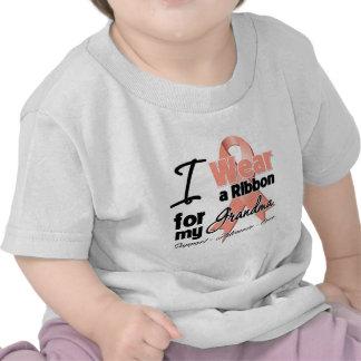 Abuela - cinta uterina del cáncer camisetas