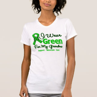 Abuela - cinta verde de la conciencia camiseta
