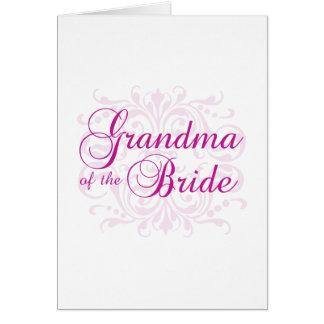 Abuela clásica de la elegancia de la novia felicitacion