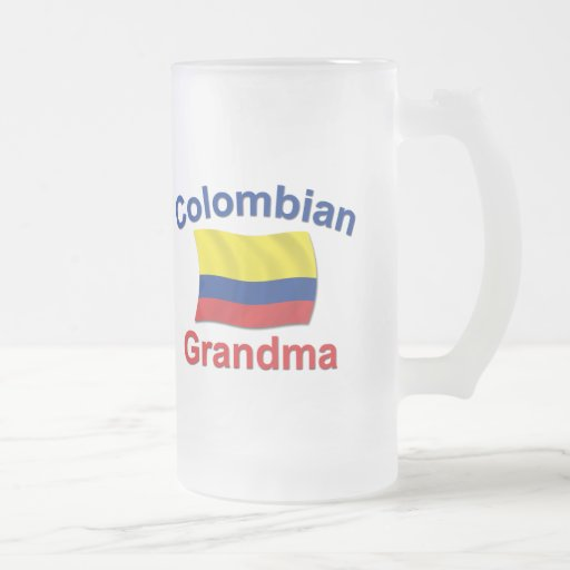 Abuela colombiana jarra de cerveza esmerilada