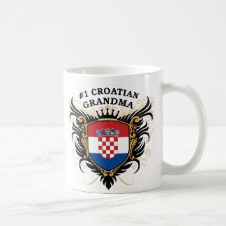 Abuela croata del número uno taza clásica