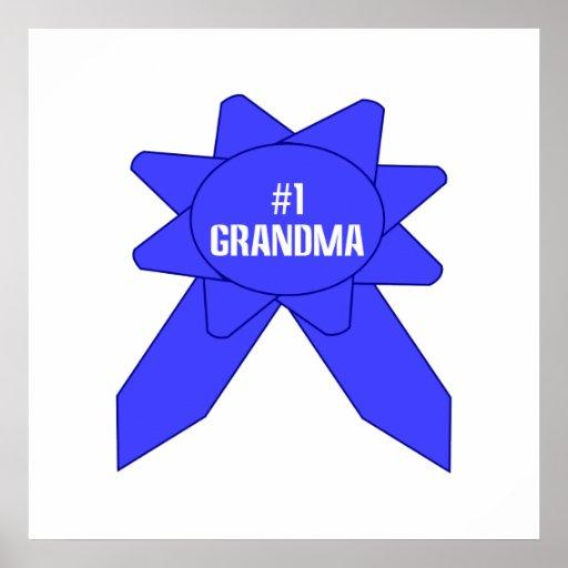 Abuela de Blue Ribbon #1 Póster