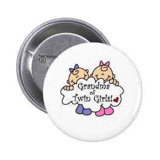 Abuela de chicas gemelos pin redondo 5 cm
