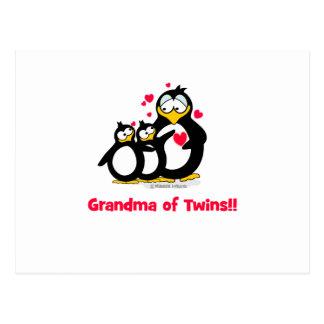 Abuela de gemelos postal
