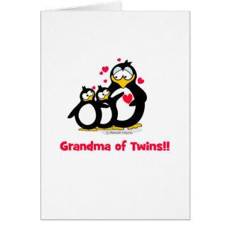Abuela de gemelos tarjeta de felicitación