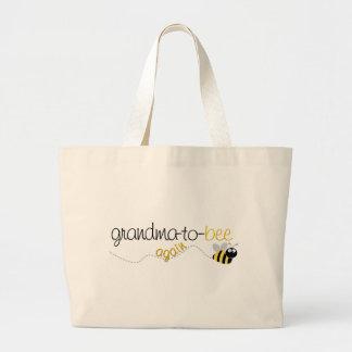 Abuela de la abeja a la camiseta otra vez bolsa tela grande