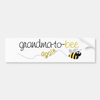Abuela de la abeja a la camiseta otra vez pegatina para auto