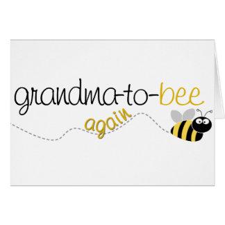 Abuela de la abeja a la camiseta otra vez tarjeta de felicitación