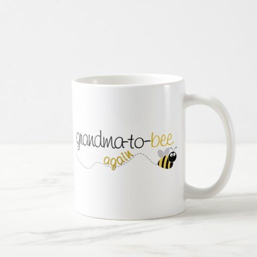 Abuela de la abeja a la camiseta otra vez taza de café