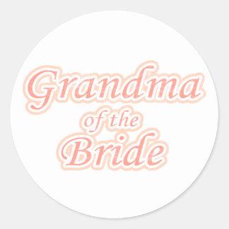 Abuela de la extravagancia de la novia pegatina