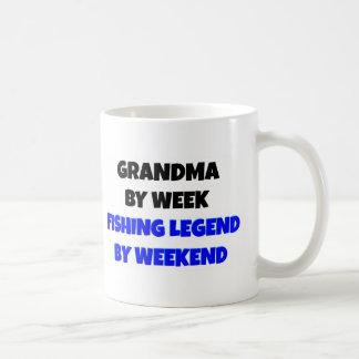 Abuela de la leyenda de la pesca tazas de café