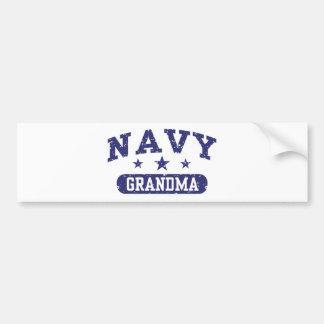 Abuela de la marina de guerra pegatina de parachoque