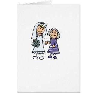Abuela de la novia el día de boda tarjeta de felicitación