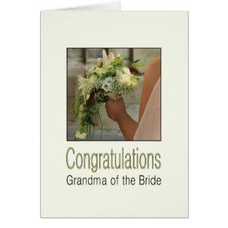 abuela de la novia que casa Congratuations Tarjeta De Felicitación