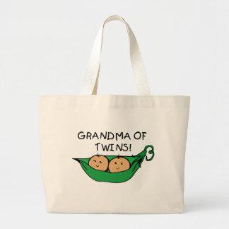 Abuela de la vaina de los gemelos bolsa de mano