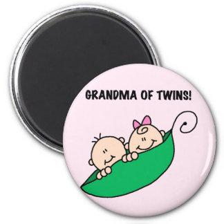 Abuela de las camisetas y de los regalos de los ge imán redondo 5 cm