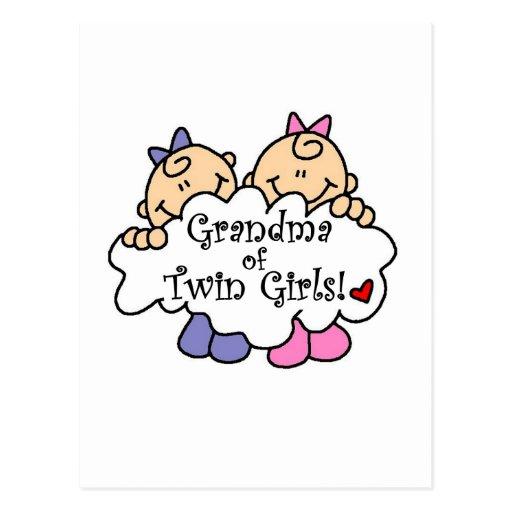 Abuela de las camisetas y de los regalos gemelos d postal