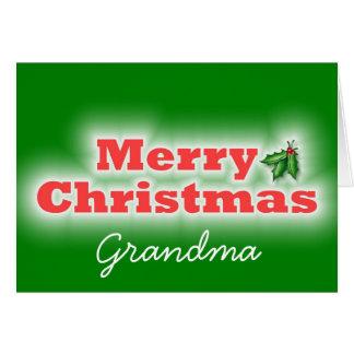 Abuela de las Felices Navidad Tarjeta De Felicitación