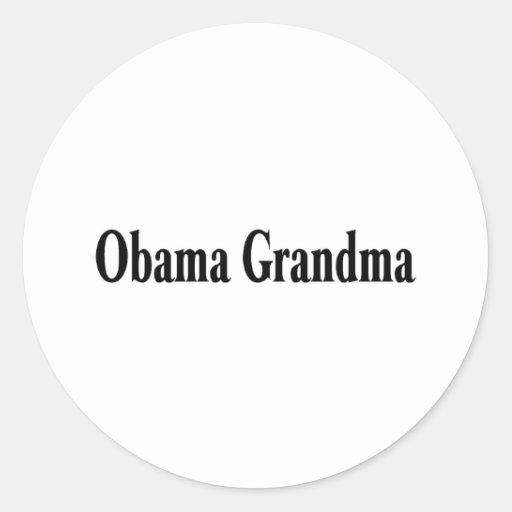Abuela de Obama Pegatina Redonda