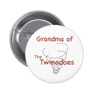 Abuela de Twinadoes Pin Redondo De 2 Pulgadas