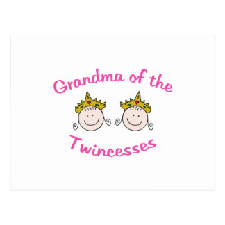 Abuela de Twincess Tarjeta Postal
