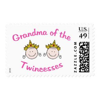 Abuela de Twincess Timbre Postal