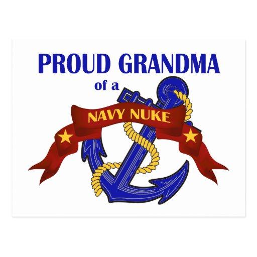 Abuela de un arma nuclear de la marina de guerra tarjeta postal