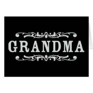 Abuela decorativa felicitacion
