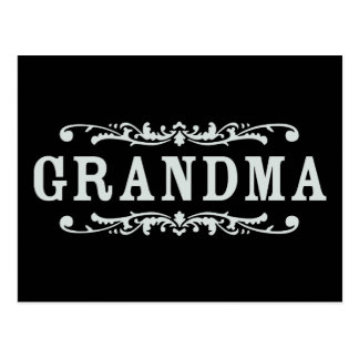 Abuela decorativa tarjeta postal
