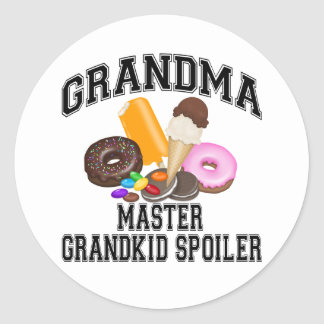 Abuela del alerón del Grandkid Pegatinas Redondas